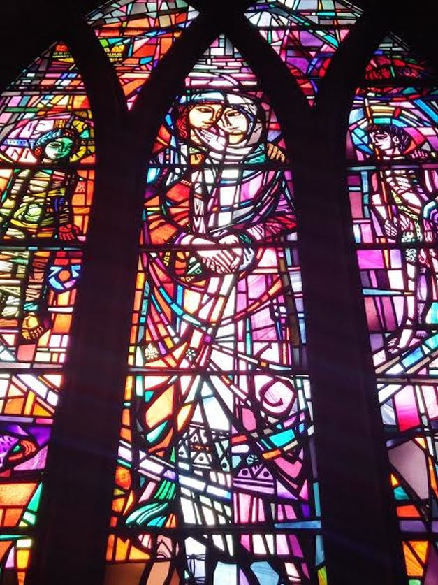 Pluscarden Abbey Stained Glass Window Scotland